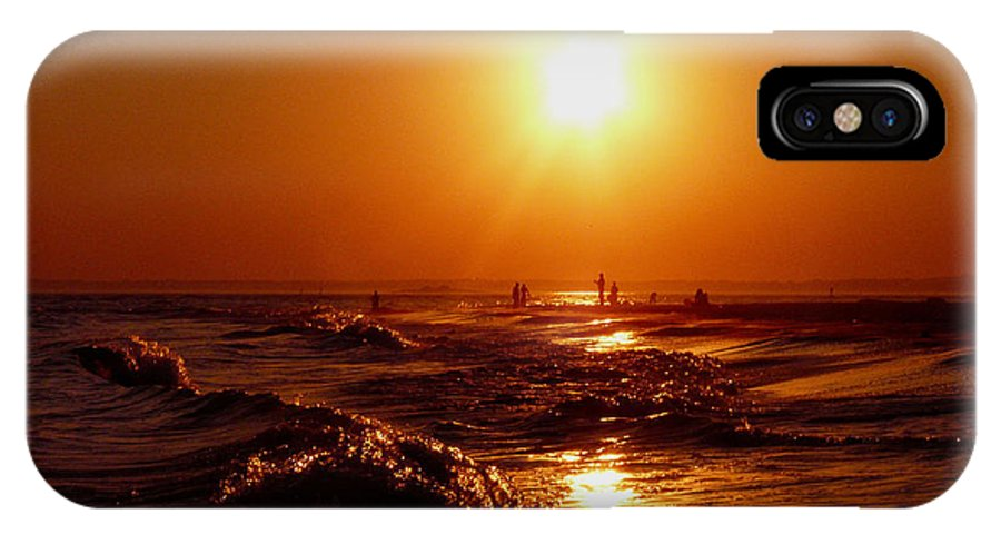 Sunset IPhone X Case featuring the photograph Extreme Blazing Sun by Kendall Eutemey