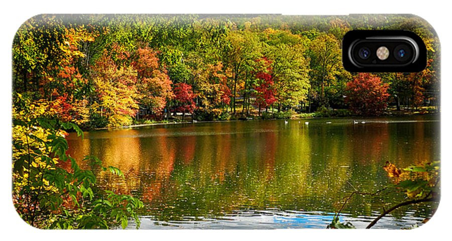 Lake IPhone X Case featuring the photograph Fall In Pennsylvania by Carol A Commins