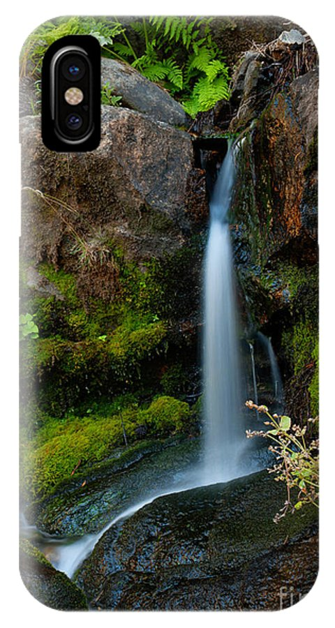 California IPhone X Case featuring the photograph Falls by Idaho Scenic Images Linda Lantzy