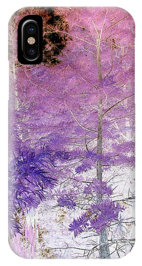 Abstract IPhone X Case featuring the photograph Fantasy Woods by Florene Welebny