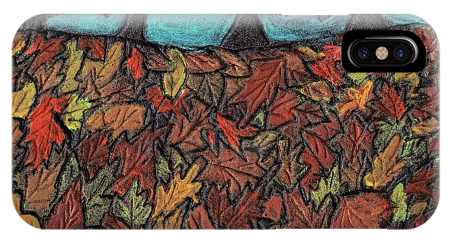 Leaves IPhone X Case featuring the painting Finding Autumn Leaves by Wayne Potrafka