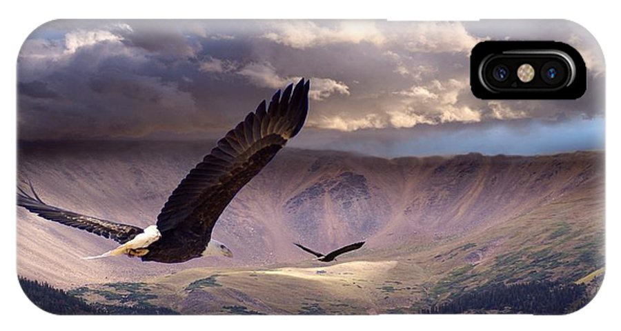 Eagles IPhone X / XS Case featuring the digital art Finding Tranquility by Bill Stephens