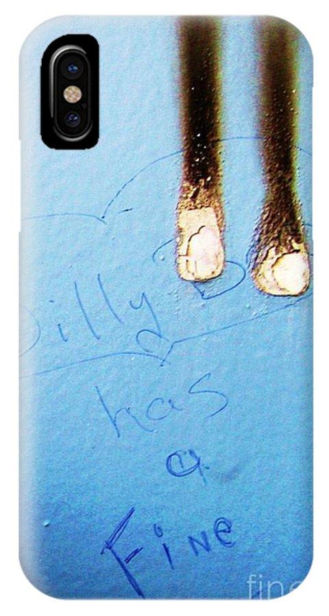 Photograph Fine Ass Blue IPhone X Case featuring the photograph Fine Ass by Seon-Jeong Kim