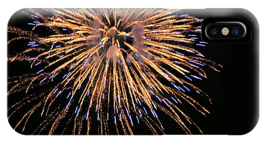 Fireworks IPhone X Case featuring the photograph Fireworks by Kristin Elmquist