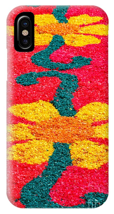 Portugal IPhone X Case featuring the photograph Flower Carpets by Gaspar Avila