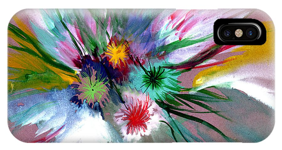 Flowers IPhone Case featuring the painting Flowers by Anil Nene