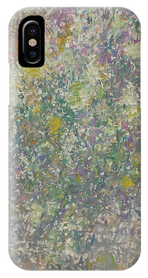Bouquet IPhone X Case featuring the painting Flowers by Robert Nizamov