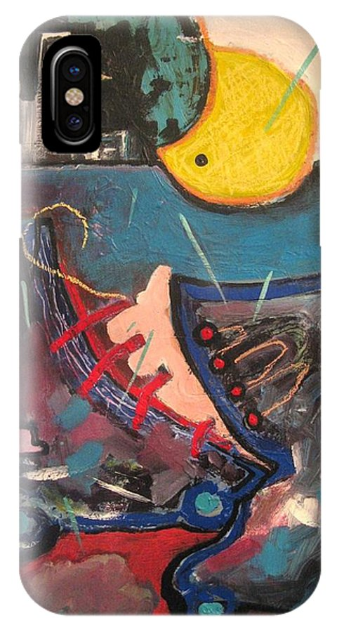 Abstract Paintings IPhone X Case featuring the painting Forgotten Days by Seon-Jeong Kim