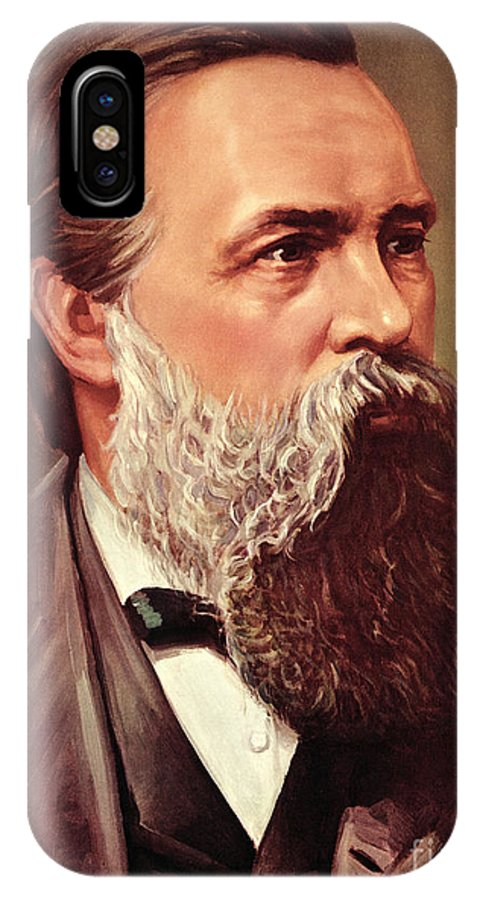Engels IPhone X Case featuring the painting Friedrich Engels by German School
