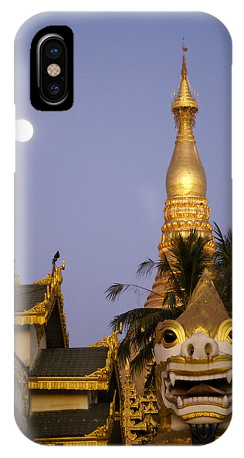 Burma IPhone X Case featuring the photograph Full Moon In Burma by Michele Burgess