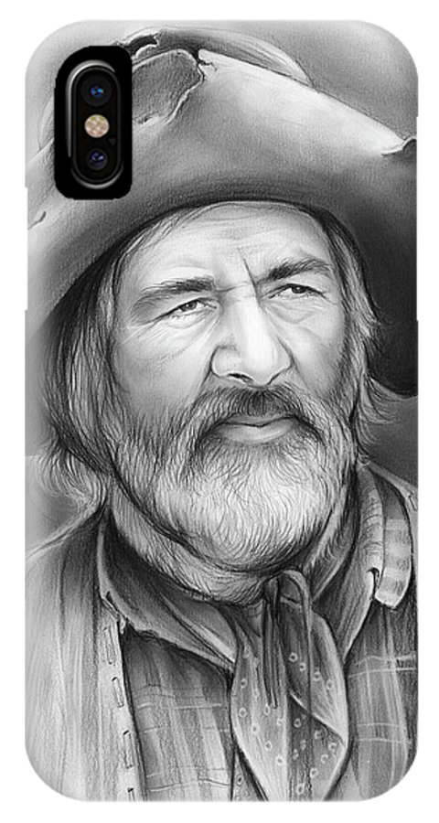 Gabby Hayes IPhone X Case featuring the drawing Gabby Hayes by Greg Joens