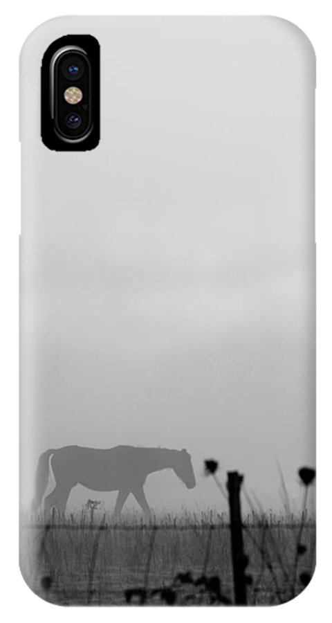 Horse IPhone X / XS Case featuring the photograph Ghost Horse by Rebecca Cozart