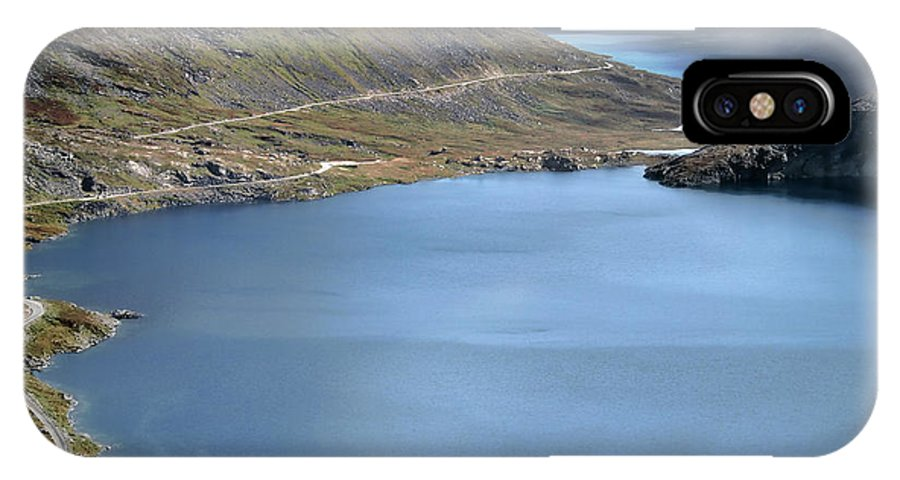 Lake Djupvatnet IPhone X Case featuring the photograph Glacial Lake by Jim Hill