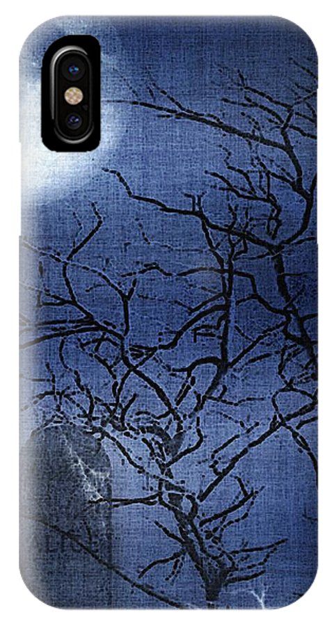 Clouds IPhone X Case featuring the painting Go Ask Alice by RC DeWinter