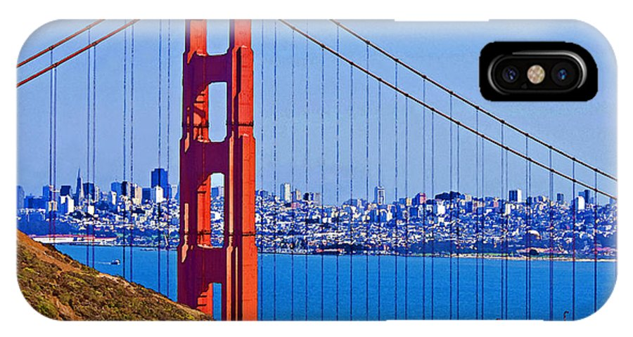 American West IPhone X Case featuring the photograph Golden Gate by Dennis Cox