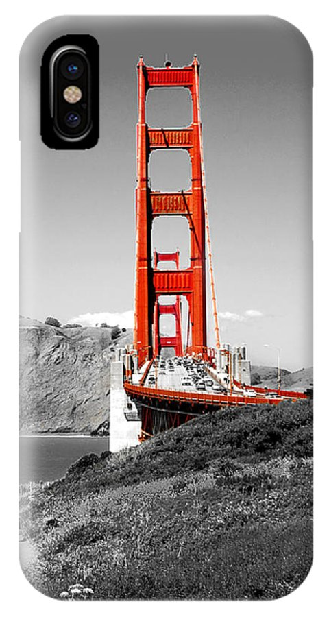 City IPhone X Case featuring the photograph Golden Gate by Greg Fortier