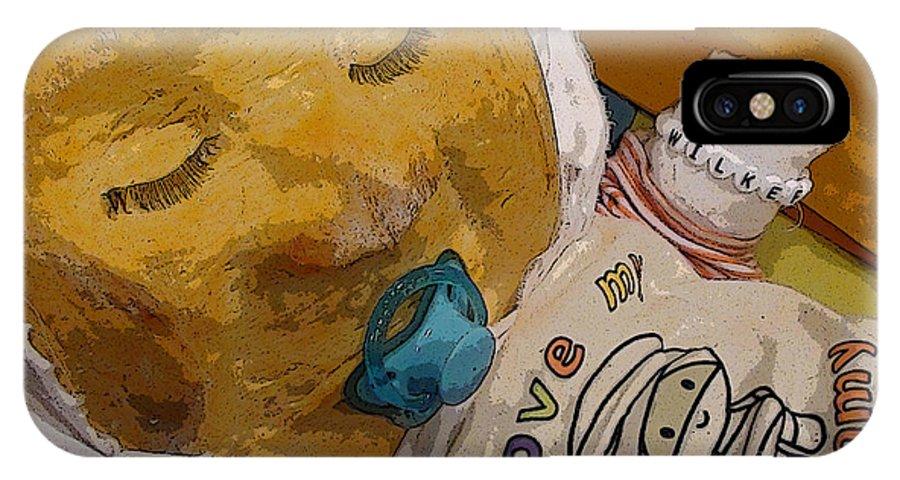 Pumpkin Pumpkins Jack O Lantern Baby Babies Mummy Mummies Pacifier Pacifers Sleep IPhone X / XS Case featuring the photograph Gourdon Wilke 2 by Grace Rose