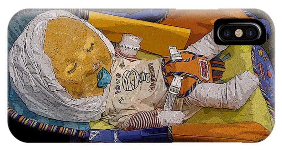 Baby Babies Sleep Sleeping Mummy Mummies Pumpkin Pumpkins Jack O Lantern Cradle Cradles Sleepers Pacifier Pacifiers IPhone X / XS Case featuring the photograph Gourdon Wilke by Grace Rose