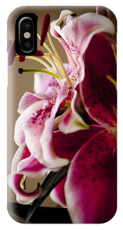 Flora IPhone X Case featuring the photograph Graceful Lily Series 16 by Olga Smith