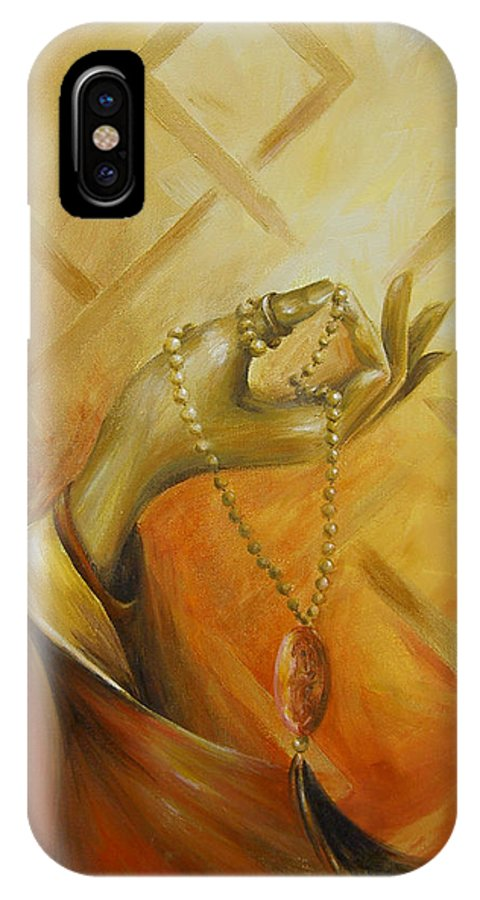 Yoga IPhone Case featuring the painting Gyan Mudra by Dina Dargo