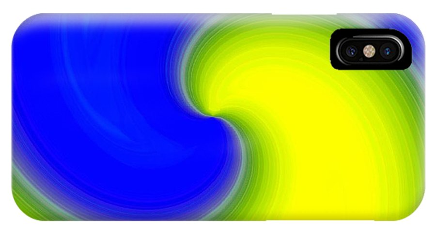 Abstract IPhone X Case featuring the digital art Harmony 22 by Will Borden