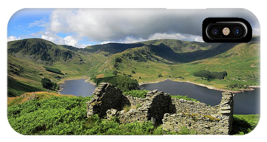 Haweswater Reservoir IPhone X Case featuring the photograph Haweswater Reservoir, Mardale Valley, Lake Dist by Dave Porter