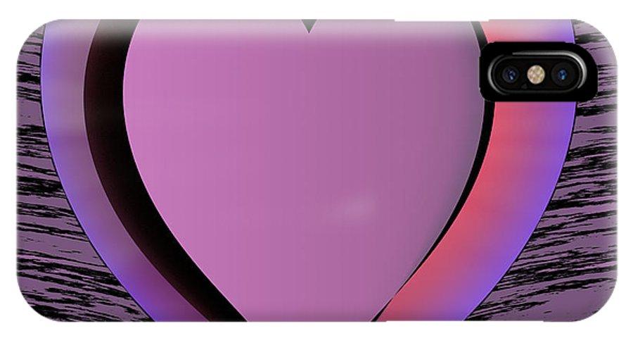 Heart IPhone X / XS Case featuring the digital art Heart Shape by Miroslav Nemecek