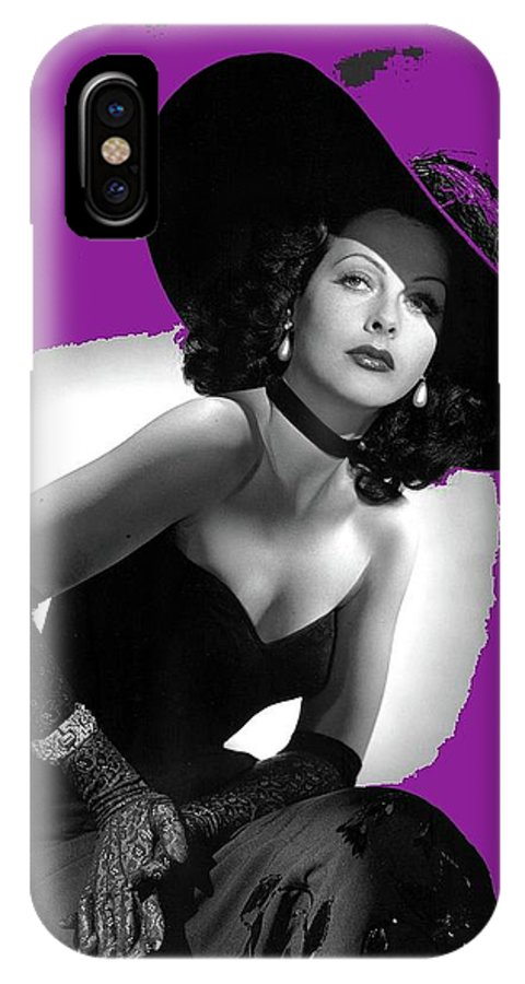Hedy Lamarr C.1947-2013 IPhone X Case featuring the photograph Hedy Lamarr C.1947-2013 by David Lee Guss