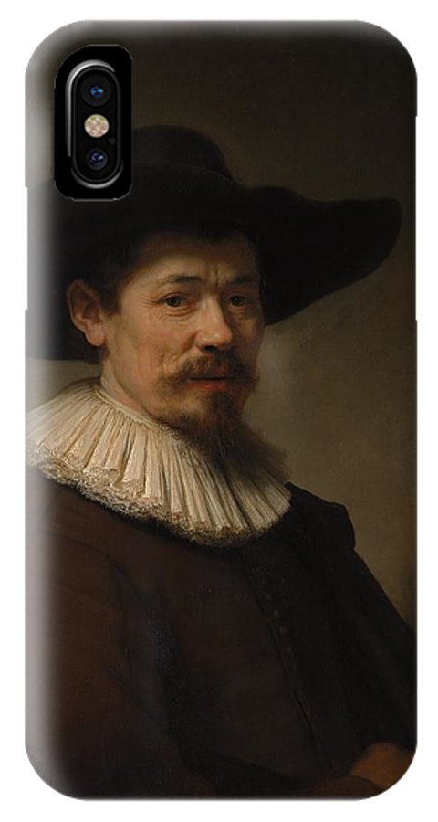 Rembrandt Herman Doomer Born About 1595 Died 1650 IPhone X Case featuring the painting Herman Doomer Born About 1595 Died 1650 by Rembrandt