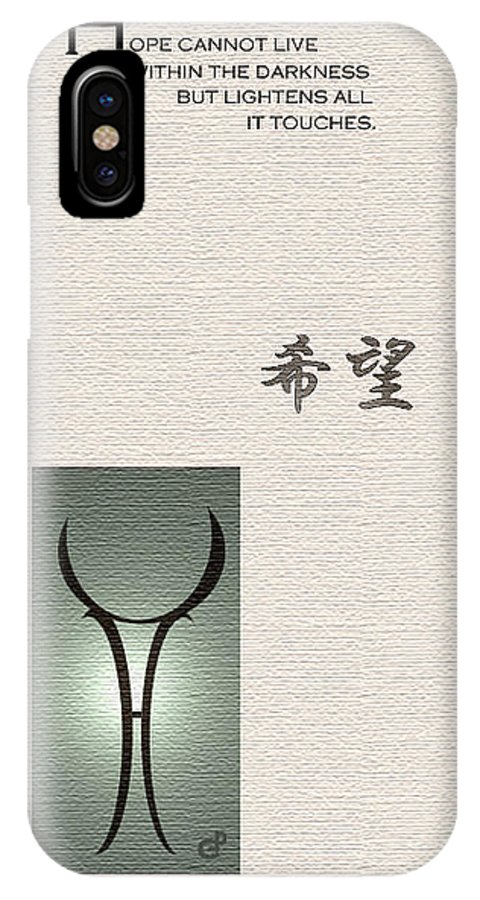 Japan IPhone X Case featuring the painting Hope by Peri Craig