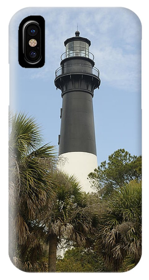 Hunting Island IPhone X Case featuring the photograph Hunting Island Lighthouse by Darrell Young