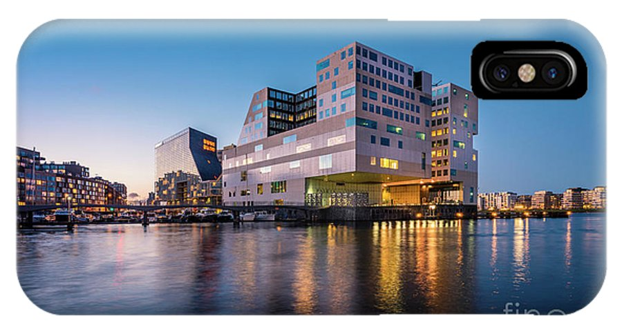 Urban Landscapes IPhone X / XS Case featuring the photograph Ijdok by Michael Harris