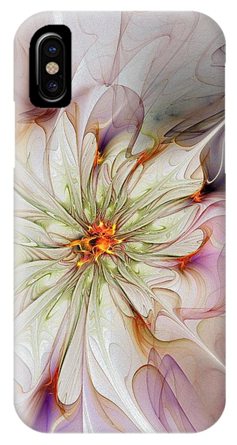 Digital Art IPhone X Case featuring the digital art In Full Bloom by Amanda Moore