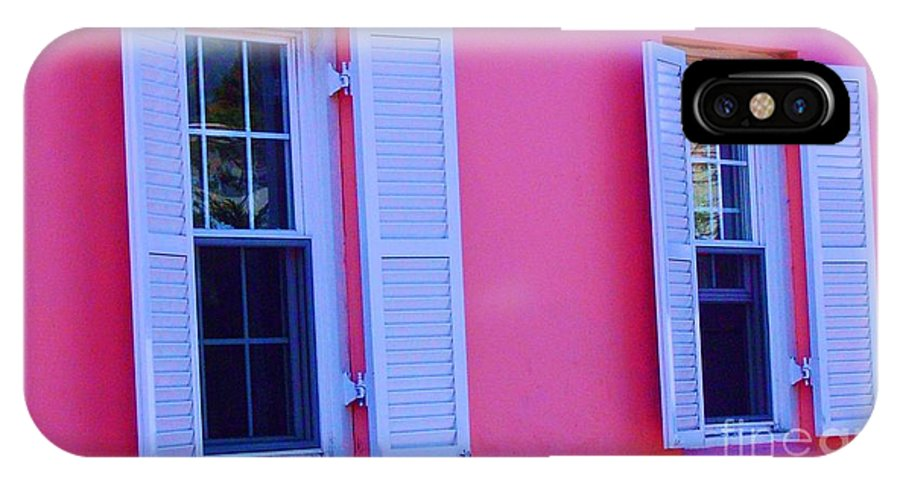 Shutters IPhone X Case featuring the photograph In The Pink by Debbi Granruth