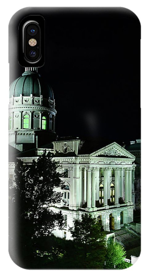 Indiana State Capitol IPhone X Case featuring the photograph Indian State Capitol by Rob Banayote