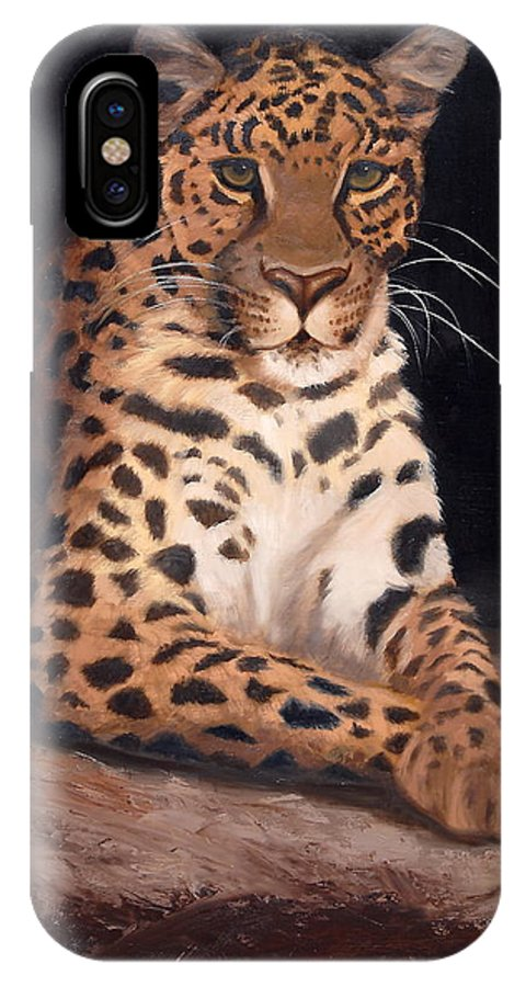 Wildlife IPhone X Case featuring the painting Intrigued by Greg Neal