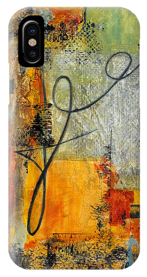 Abstract IPhone X Case featuring the painting Invitation To Dance by Ruth Palmer