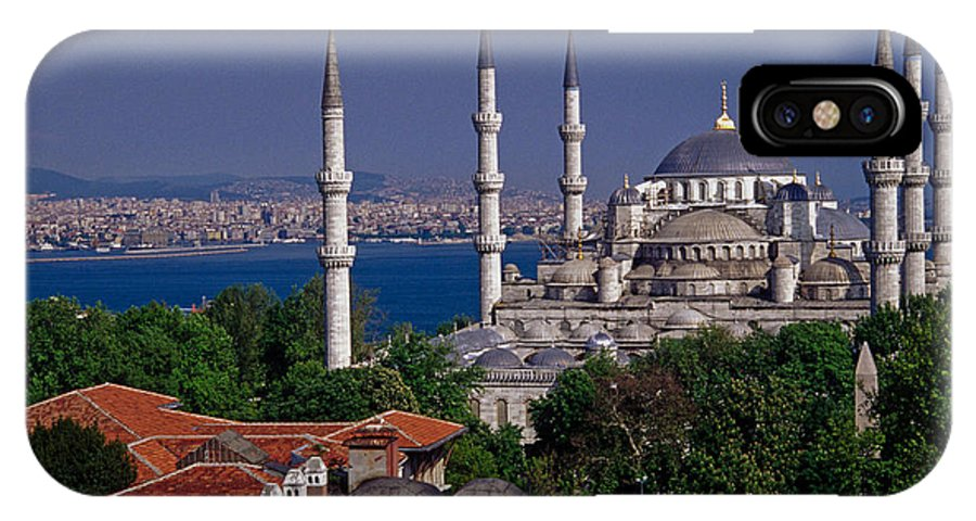 Turkey IPhone X Case featuring the photograph Istanbul's Blue Mosque by Michele Burgess