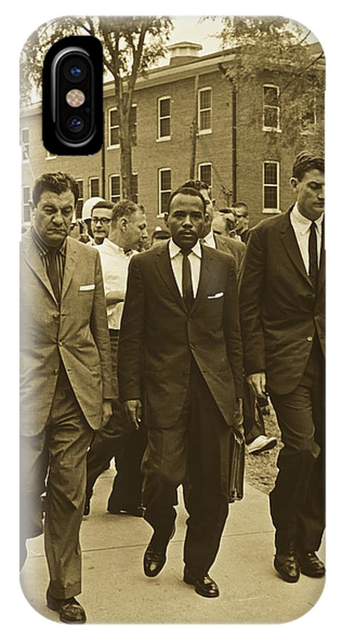 James Meridith IPhone X Case featuring the photograph James Meridith And Ole Miss Integration 1962 by Library Of Congress