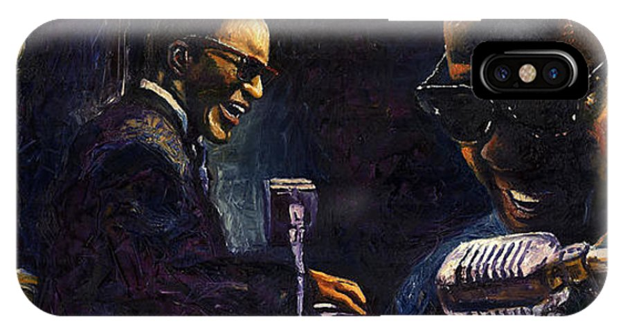 Jazz IPhone Case featuring the painting Jazz Ray Charles by Yuriy Shevchuk
