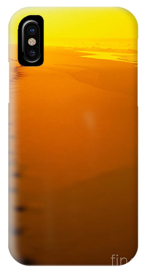 C1211 IPhone X Case featuring the photograph Jogging At Sunset by Dana Edmunds - Printscapes