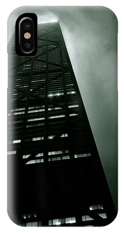 Geometric IPhone X Case featuring the photograph John Hancock Building - Chicago Illinois by Michelle Calkins