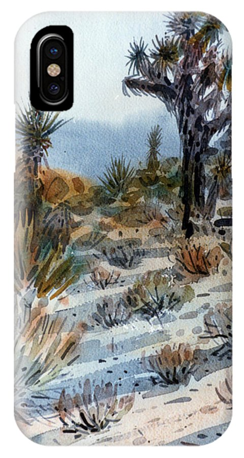 Joshua Tree IPhone X Case featuring the painting Joshua Tree by Donald Maier