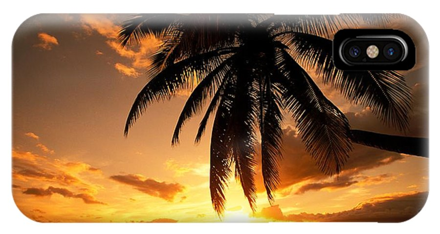 Affection IPhone X Case featuring the photograph Kamaole One by Ron Dahlquist - Printscapes