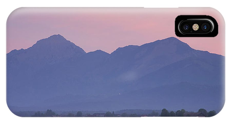 Brnik IPhone X Case featuring the photograph Kamnik Alps At Dawn by Ian Middleton