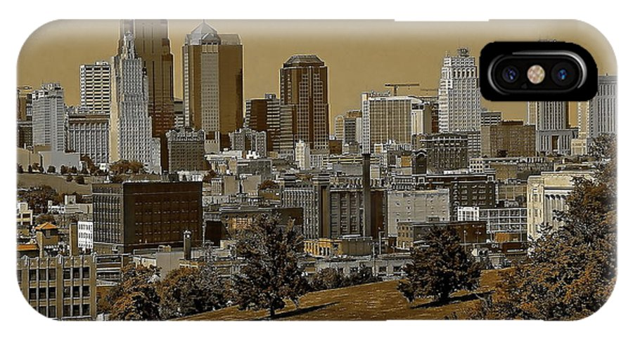 Architecture IPhone X Case featuring the digital art Kansas City Skyline by Anthony Dezenzio