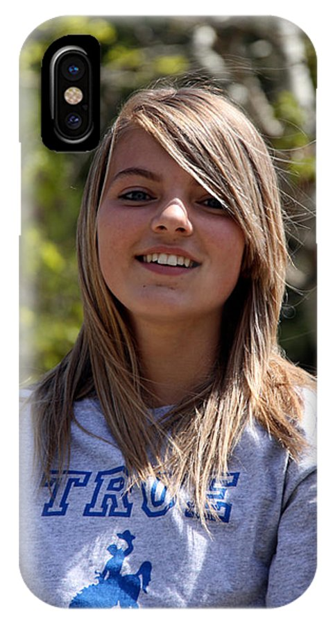 Girl IPhone X Case featuring the photograph Kaylee by George Jones