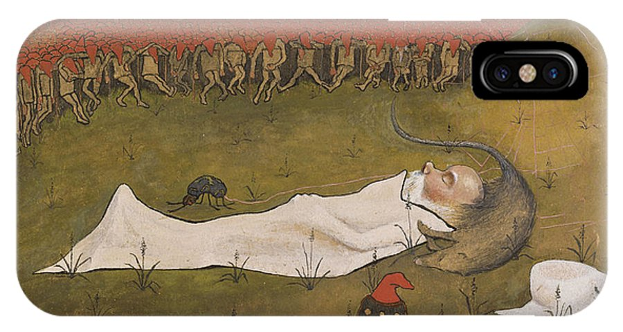 Hugo Simberg IPhone X Case featuring the painting King Hobgoblin Sleeping by Celestial Images