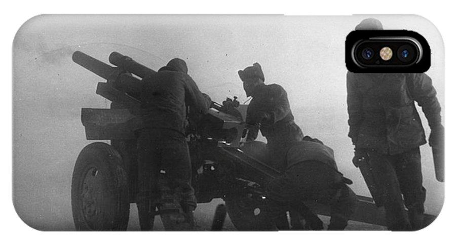 1951 IPhone X Case featuring the photograph Korean War: Artillery by Granger