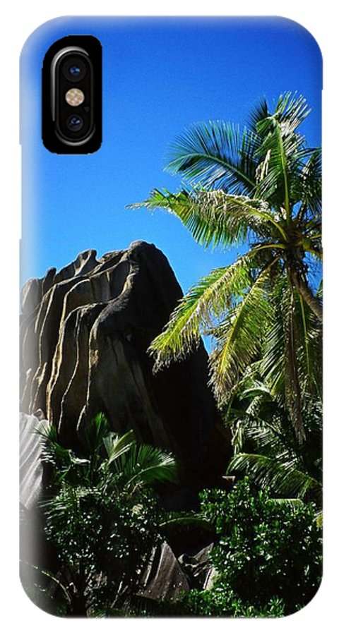 Indian IPhone X Case featuring the photograph La Digue Island - Seychelles by Juergen Weiss